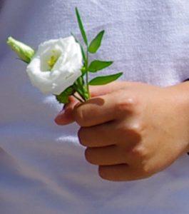 offrir des fleurs à un garçon
