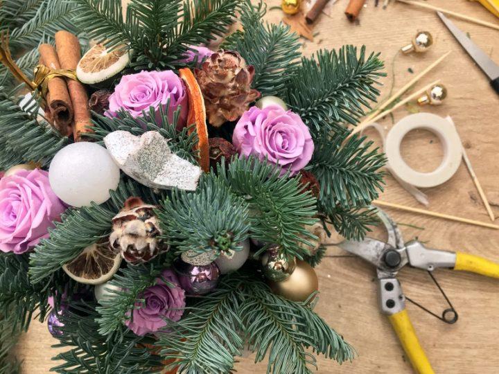 Conseils pour réussir son bouquet de fleurs de Noël